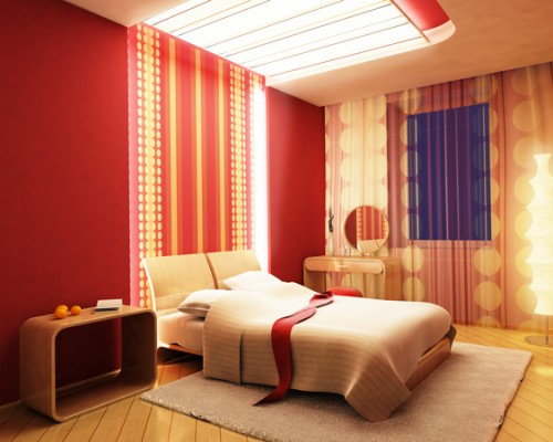 Bedroom in red
